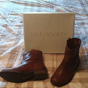 Sole Society Natasha boot in cognac